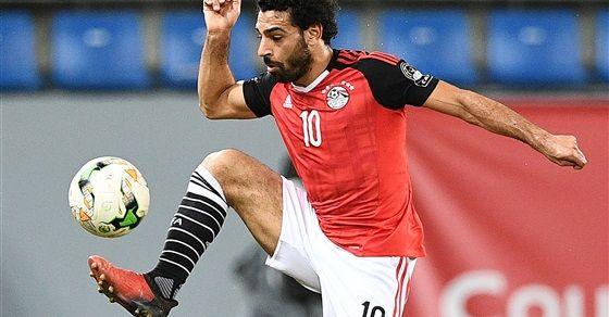 صورة من مباراة مصر والمغرب اللاعب محمد صلاح