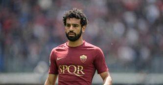 اللاعب محمد صلاح المصري لاعب نادي روما الإيطالي