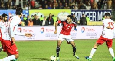 صورة من مباراة مصر وتونس السابقة