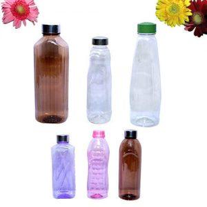 زجاجات بلاستيك شفاف الوان