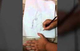 طريقة رسم الدبابة