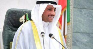 شاهد رئيس برلمان الكويت يطرد رئيس الوفد الأسرائيلي اليوم من مؤتمر البرلمان الدولي