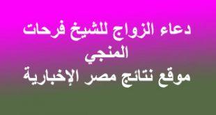 دعاء الزواج من الشيخ فرحات المنجى ويكيبيديا